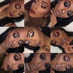 I'm probably going to keep it simple for New Years because I personally like simple looks on myself .. but here's some inspiration from me to you. If recreated , tag me!