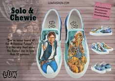 SOLO & CHEWIE  Han Solo Chewbacca Star Wars Shoes by LUWfashion