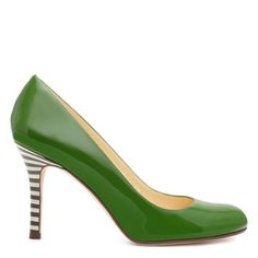 <3 these shoes.  The perfect color green and a striped heal makes them super cute.