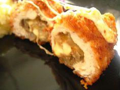 Kącik Słodkości: Pierś z Kurczaka nadziewana Pieczarkami, Cebulką i Serem (Devolay) Stuffed Chicken with Mushrooms, Onions and Cheese (Chick...