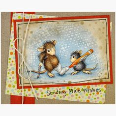 #cre8time for get well cards like this one from Janelle Stollfus #stampendous #HouseMouseDesigns