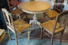 4 eiken, landelijke stoelen met rieten zitting, Stoelen, Berlare | Kapaza.be