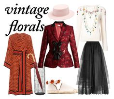 """Vintage Roses"" by cici-rahma on Polyvore featuring Altuzarra, Federica Moretti, Michael Kors, Raye, Crate and Barrel, Elie Saab, Tory Burch and vintage"