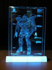 Striker Eureka Blueprint Laser Engrave Acrylic Frame Blue LED Stand WHY AM I NOT INDEPENDENTLY WEALTHY