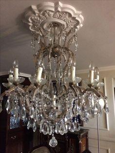 G p cohn antique chandeliers repairs restoration gorgeous a close up of my antique chandelier aloadofball Images
