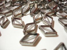 (10) Clear Silver-Edged Diamond Glass Beads. Starting at $1 on Tophatter.com!  Come check out the $1 deals. Auctions starts at 12a.m. EST. Items from standby can be advanced into the auction now! http://tophatter.com/auctions/16784?campaign=buyer_auction_reminder=email