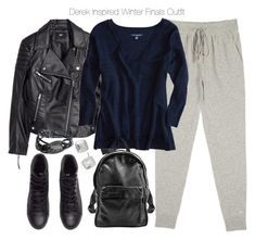 """""""Derek Inspired Winter Finals Outfit"""" by veterization ❤ liked on Polyvore featuring Banjo & Matilda, H&M, American Eagle Outfitters, Sunday Somewhere and Kenneth Cole"""