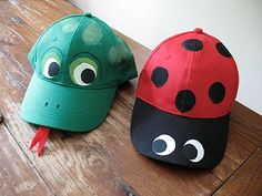 Ladybug or Alligator hat.  Great birthday party or classroom idea!