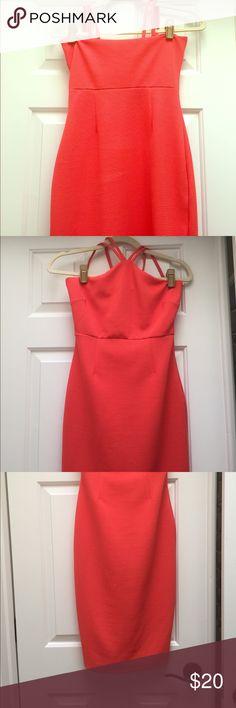 Orange bodycon midi dress Orange bodycon Wayf dress midi length , perfect for summer, chest is best for someone 34b or smaller Wayf Dresses Midi