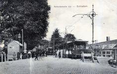 Kopeindpunt Rotterdamschedijk Schiedam, lijn 8, 1907