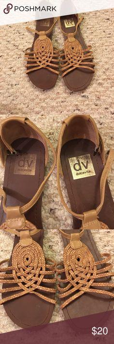 DV Dolce Vita Sandals DV by Dolce Vita raffia/straw design flat sandals in a size 7. DV by Dolce Vita Shoes Sandals