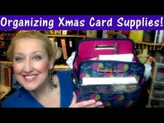 How I pack my Christmas Cardmaking Supplies to make 50 cards on the go! - YouTube