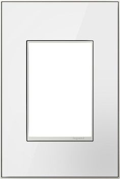 Legrand AWM1G3MWW4 adorne 1 Gang Glass Wall Plate - 5 Inches Wide Mirror White on White Indoor Lighting Wall Controls Wall Plates