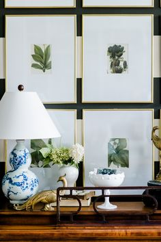 10 Classic Blue And White Lamps (botanical gallery wall, piano, decorating)