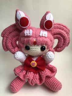 Cute little nerdy doll - Chibi handmade Sailor Chibi Moon amigurumi doll from Sailor Moon