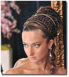 Grecian Wedding, Grecian Hairstyles, Roman Wedding Ideas, Roman Gowns, Etruscan Style