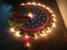 Rangoli Designs Simple Diwali, Easy Rangoli Designs Videos, Indian Rangoli Designs, Rangoli Designs Latest, Rangoli Designs Flower, Free Hand Rangoli Design, Rangoli Border Designs, Small Rangoli Design, Colorful Rangoli Designs
