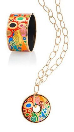 Frey Willie: Distinctive jewellery from Vienna, Austria. Original enamel & gold designs inspired by famous artists & art historical motifs / http://www.frey-wille.com/#Home