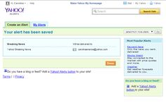 Configurada una alerta a Yahoo sobre Breaking News.