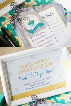 Hot cocoa winter baby shower party game! See more party planning ideas at CatchMyParty.com!