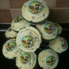4th Birthday Tree Fu Tom cupcakes