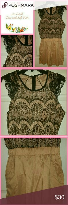 🌻 2X Host Pick!!  NWOT Lace Romper Uber cute!!! Brand new. Two pockets. Dresses