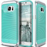 Galaxy S7 Edge Case Caseology [Wavelength Series] Textured Pattern Grip Cover [Turquoise Mint] [Shock Proof] for Samsung Galaxy S7 Edge (2016)  Turquoise Mint