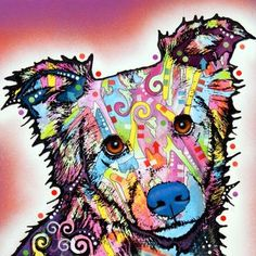 Pop Art Animal Prints  Brooklyn-based artist Dean Russo specializes in mixing media with a Pop Art aesthetic. This endearing collection of cat and dog reproductions captures a range of emotional tones—from joyous to heartbreaking—all while maintaining the artist's bright, electric style.