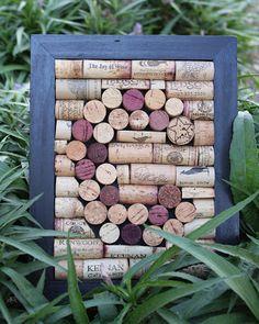 Monogrammed Wine Cork Frame