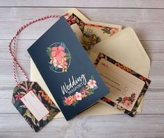 Congratulations if you got engaged this holiday! Take a look at these tropical themed passport wedding invitations with pull-out maps, RSVP cards, boarding passes and luggage tags. Available in quantities as low as 10 invitations and in packages to suit all budgets.