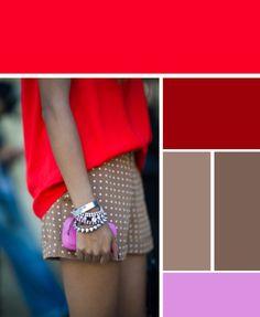 Un tono cálido, combinado con un color vibrante, hace que tu outfit se vea mucho mejor #moda #or Outfit