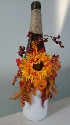 Thanksgiving Decorative Wine Bottle