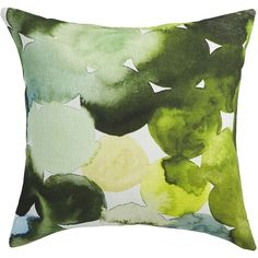 """CB2 Transitions 20"""" Pillow With Down-Alternative Insert ($40) ❤ liked on Polyvore featuring home, home decor, throw pillows, pillows, geometric throw pillows, feather pillow inserts, plush throw pillows, transitional home decor and cb2"""