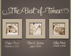 (Vinyl quote with personalized vinyl names & dates are included in this order. Frames are for display picture only, they are not for sale.)  In These Moments...Time stood still - vinyl wall quote-measures 41 long X 13 high. Personalized name and date lettering-measures 12 long X 4.5 high (You may add up to 4 names. Please list Personalized Names and Dates in the Note to Persnickety Walls box, upon checkout. To purchase additional names please send us a message with your request.) {VINYL C...