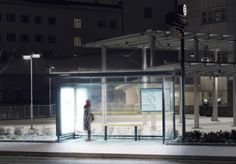 Light Therapy in Umea, Sweden - Sitting 300 miles north of Stockholm, Umea receives very little natural daylight during the winter months, which can take a severe toll on the mental and physical health of some people. After the lights were installed in the bus stops, ridership in the city increased by 50%.