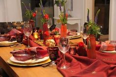Table setting in gold and red on pinterest red gold - Orientalische tischdeko ...