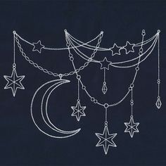 Moon and stars Urbanthreads.com
