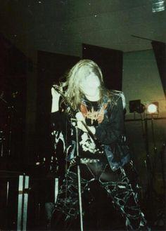 """Dead"" (born Per Ohlin in Sweden), vocalist for Norwegian black metal band Mayhem. RIP."