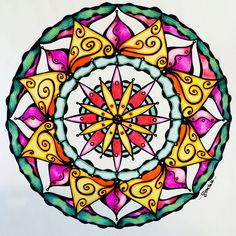 Design bySamdala, from Mandala Mojo Colouring by Sam Dreyer