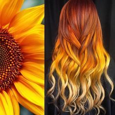An American Stylist Turns Mesmerizing Nature Images Into Hair Designs, and We Wa. - An American Stylist Turns Mesmerizing Nature Images Into Hair Designs, and We Want to Dive Into The - Dye My Hair, New Hair, Your Hair, Hair Inspo, Hair Inspiration, Sunset Hair, Pretty Hair Color, Hair Dye Colors, Hair Color Ideas