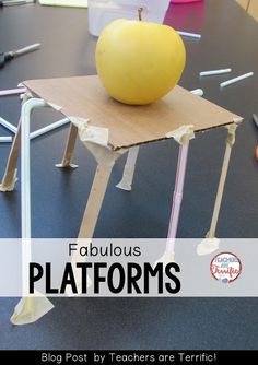 STEM Challenge: This one was about building a platform to hold an APPLE! Check the blog post for more info!