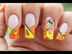 Decoración de uñas Jirafa - Giraffe nail art - YouTube