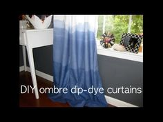 In this lesson, spice up your home decor by using dye to make your own ombre curtains. DIY champ Jake Morris demonstrates how to make these decorative panels. Dip Dye Curtains, Indigo Curtains, Ombre Curtains, Shibori, Blue And White Curtains, Amber Room, Extra Rooms, Decorative Panels, Stampin Up