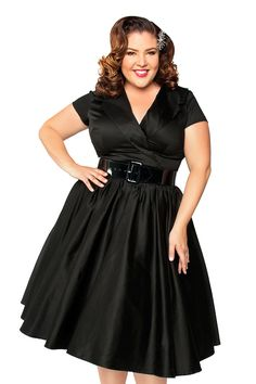 Birdie Party Dress in Black - Plus Size