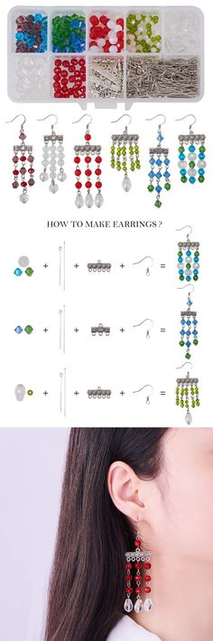 There is a jewelry box which includes some materials for making and you can find the Thread Jewellery, Beaded Jewelry, Jewelry Box, Jewelry Ideas, Jewlery, Wire Earrings, Earrings Handmade, Jewelry Making Tutorials, How To Make Earrings