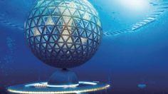 Shimizu, Eine runde Sache: Mit der Unterwasserkugel könnten überfüllte Städte aufs Meer ausweichen Foto: SHIMZU CORPORATION