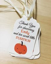 Baby Shower Favor Tags, Pumpkin Baby Shower Favor Tags, Little Pumpkin Favor Tags Fall Baby Shower Favor Tags Pumpkin Baby Shower Favor TagsFall Baby Shower Favor Tags Pumpkin Baby Shower Favor Tags Baby Shower Snacks, Baby Shower Prizes, Baby Shower Activities, Baby Shower Fall, Fall Baby, Baby Shower Printables, Baby Shower Gifts, October Baby Showers, Baby Shower Checklist