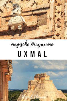 Uxmal Yucatán Halbinsel Mexiko   eine wunderschöne Mayastätte mitten im Dschungel von Yucatán #uxmal #yucatan #reise #mexiko Cancun, Tulum, San Salvador, Merida, Belize, Travel Companies, Mexico Travel, Riviera Maya, Pilgrimage