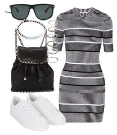 """""""Untitled #976"""" by sarah-ihab ❤ liked on Polyvore featuring T By Alexander Wang, Topshop, STELLA McCARTNEY, Forever 21, Michael Kors and Ray-Ban"""
