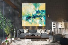 Large Abstract Painting on Canvas,Large Abstract Canvas Art,acrylic abstract,oil abstract canvas,livingroom decor FY0074